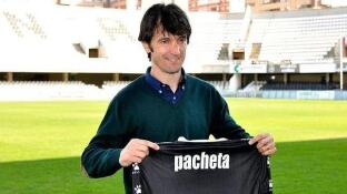 Pacheta, el da de su presentacin con el Cartagena