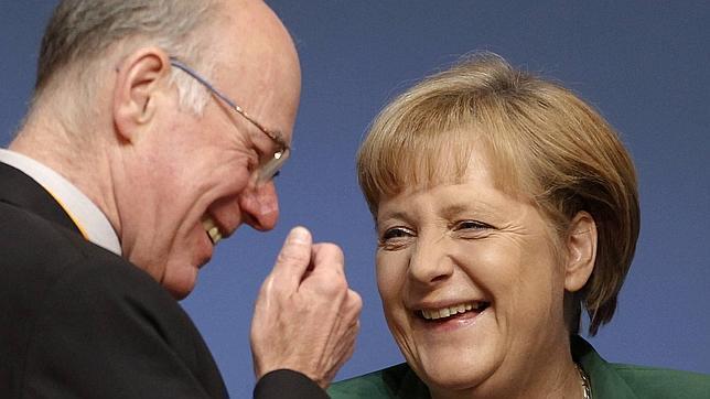 Norbert Lammert y Angela Merkel