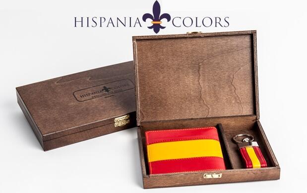 Cartera de España en piel y llavero