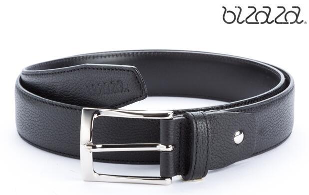 Cinturón en piel de bovino negro o marrón