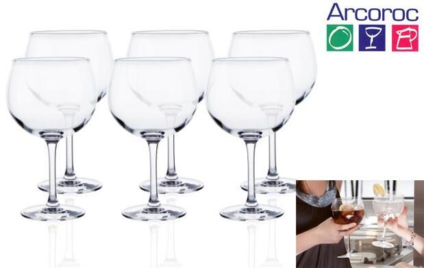 Set de 6 copas de Gin Tonic Arcoroc