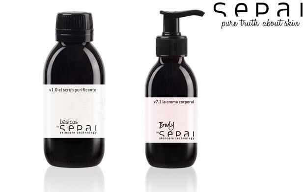 Crema antiaging y scrub purificante SEPAI