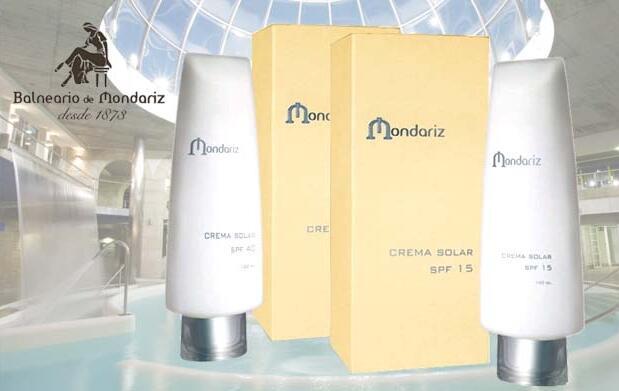 Dos cremas solares Balneario de Mondariz