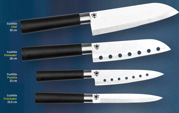 4 Cuchillos Roble Cruz de Malta