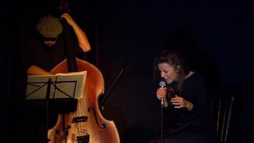 Raynald Colom y Mariola Membrives en Barcelona