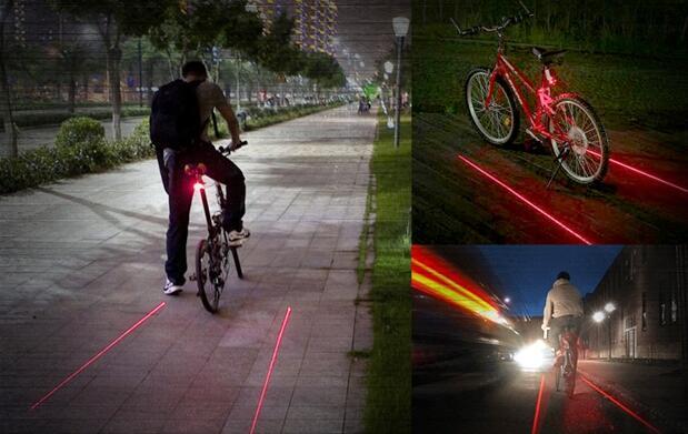 Láser de seguridad para bicicleta