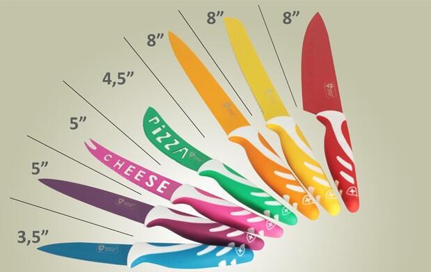 Juego de 7 cuchillos suizos de cerámica