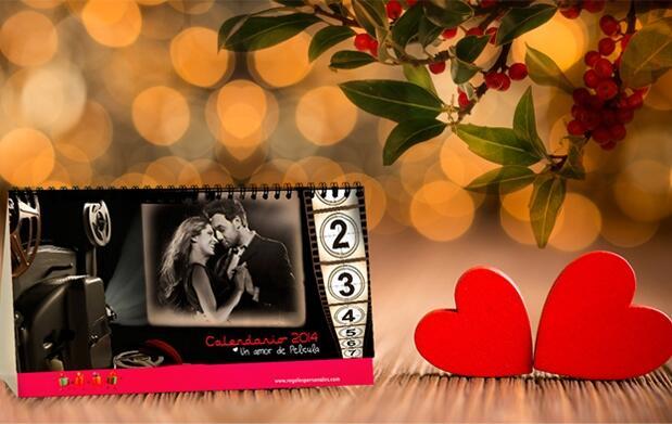 Calendario de mesa: Especial Enamorados