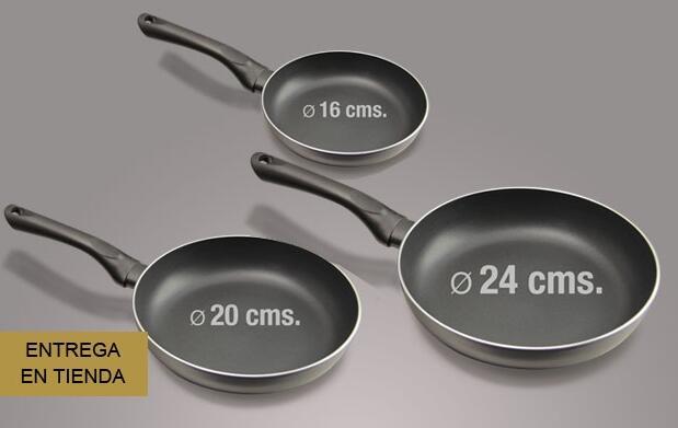 Set de sartenes de cerámica