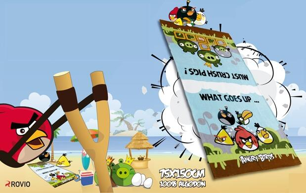 Toalla exclusiva Angry Birds
