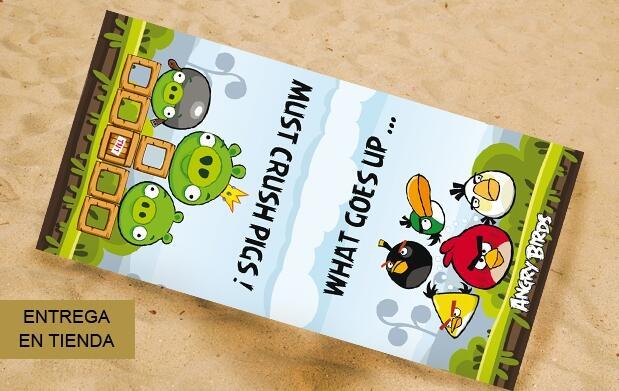 Toalla 100% algodón de los Angry Birds
