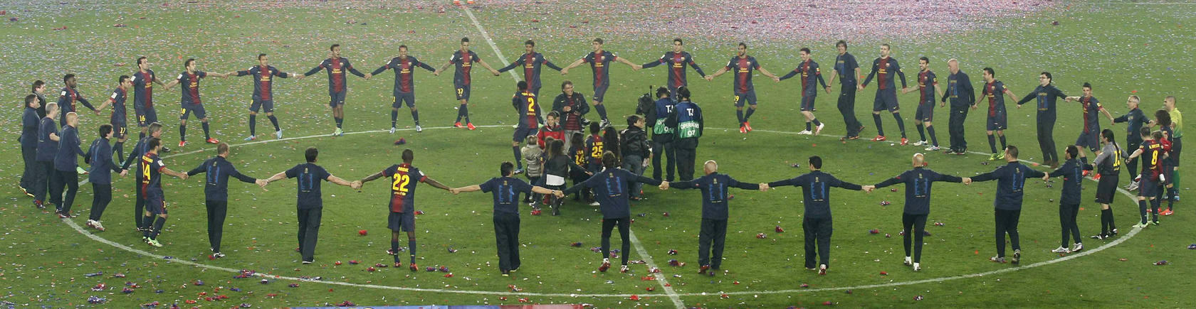Las imgenes de la celebracin del ttulo de Liga del Barcelona