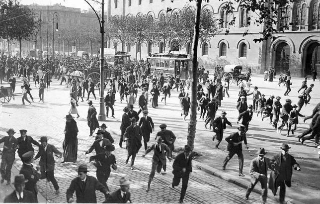 Manifestaciones violentas en Barcelona