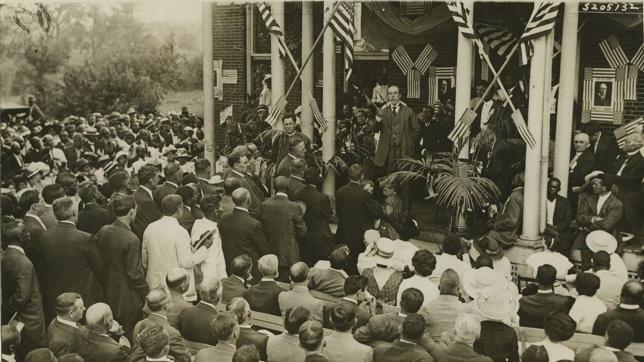Mitin de campaña presidencial en Nashville en 1916