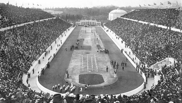 Inauguración de los Juegos Olímpicos de Atenas 1896