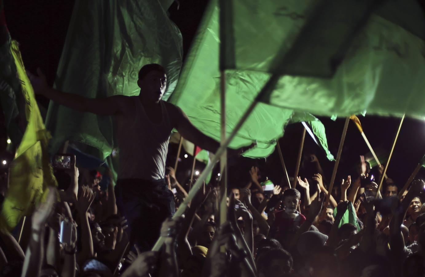 Júbilo en Gaza tras el anuncio de la tregua permanente