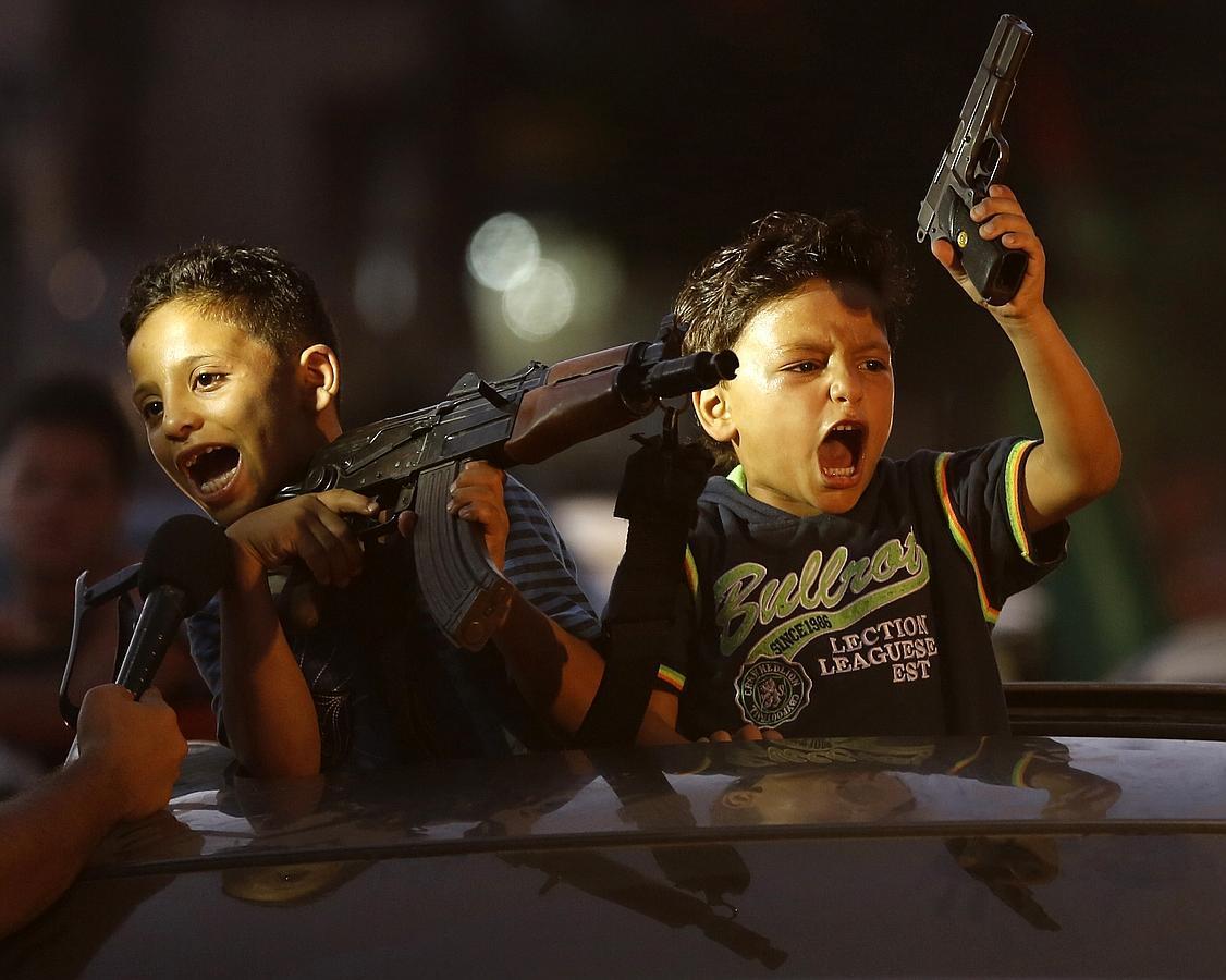 La celebración del alto el fuego de Hamás