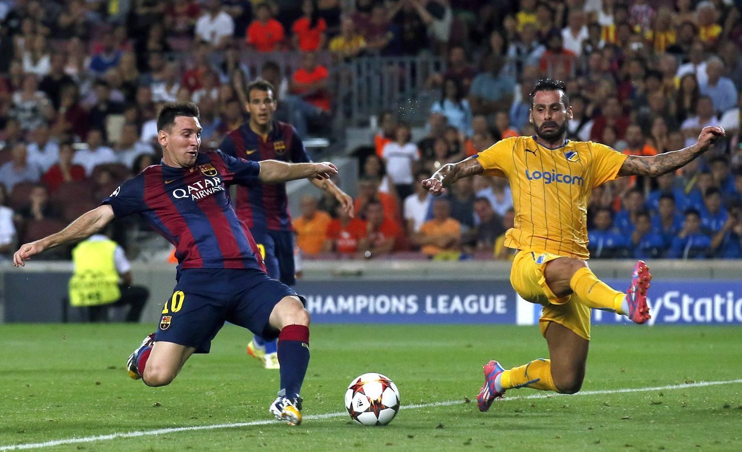 Champions: Barcelona-Apoel (1-0)