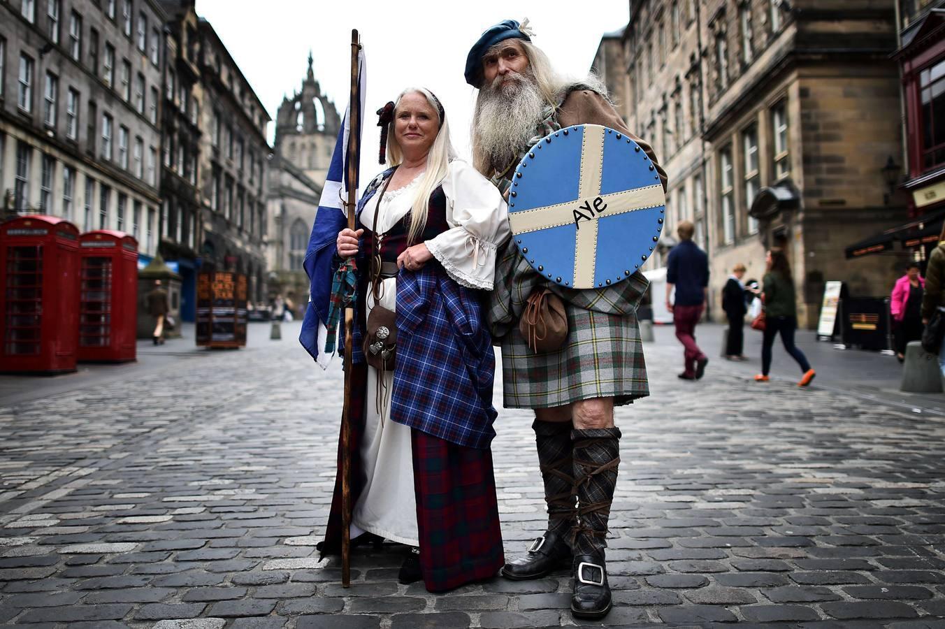 Las mejores imágenes de la campaña por el referéndum en Escocia