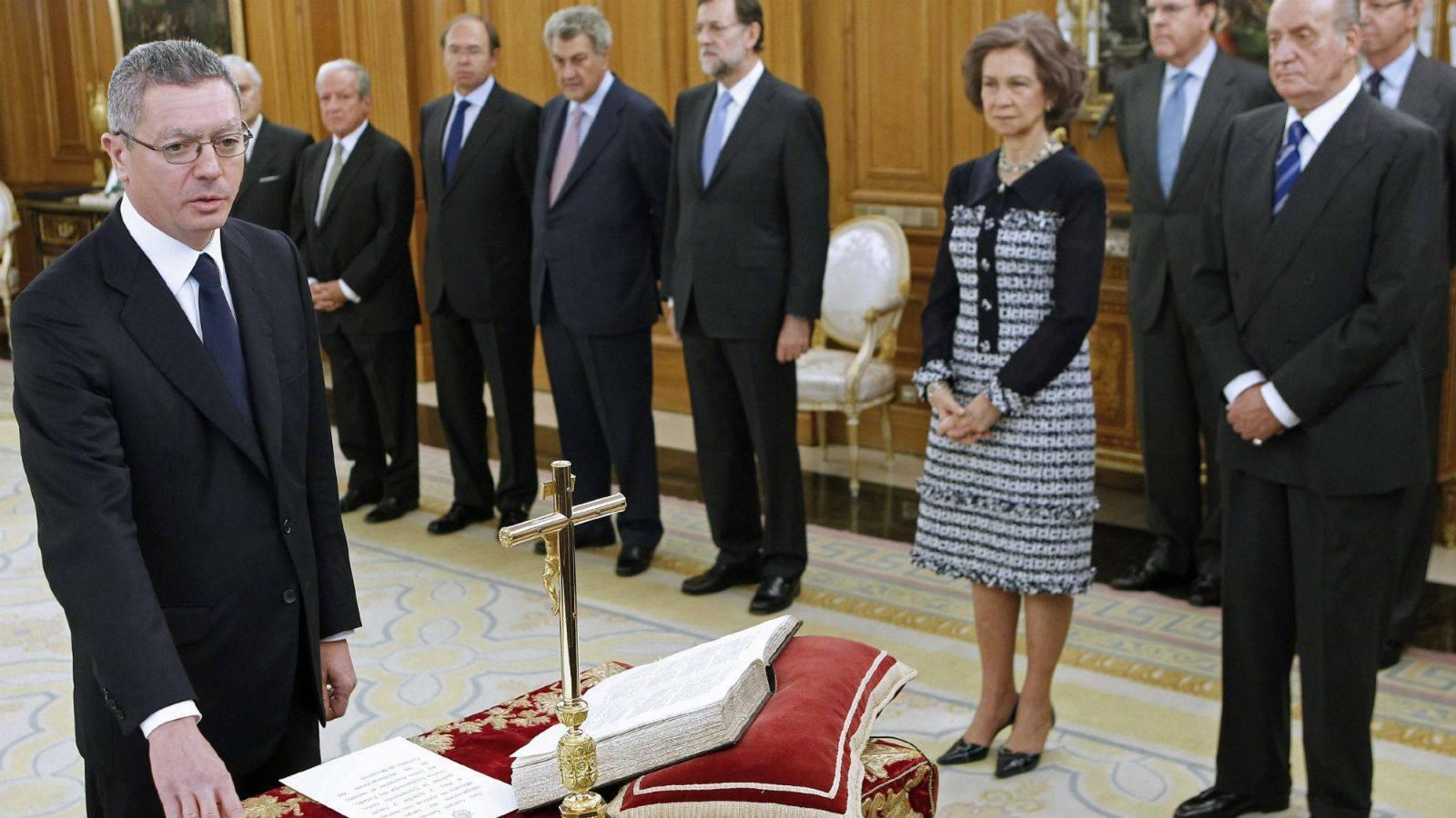 La etapa de Gallardón como ministro de Justicia, en imágenes