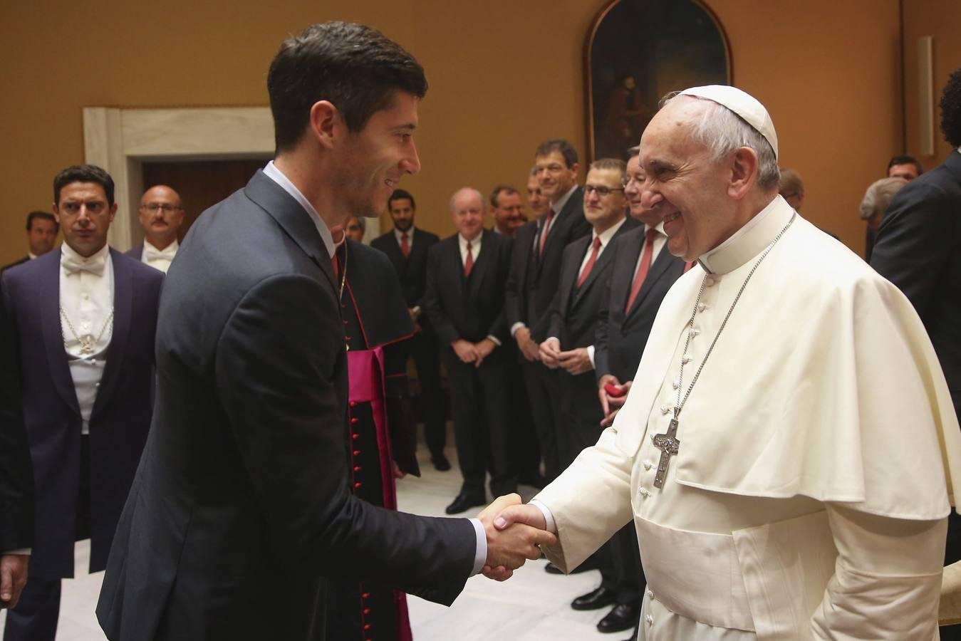 El Papa Francisco recibe al Bayern de Guardiola