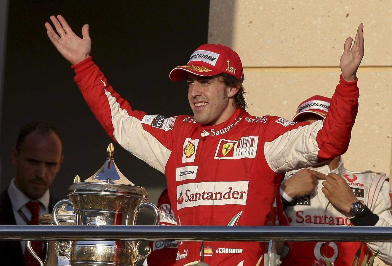 Cinco años de sinsabores de Alonso en Ferrari