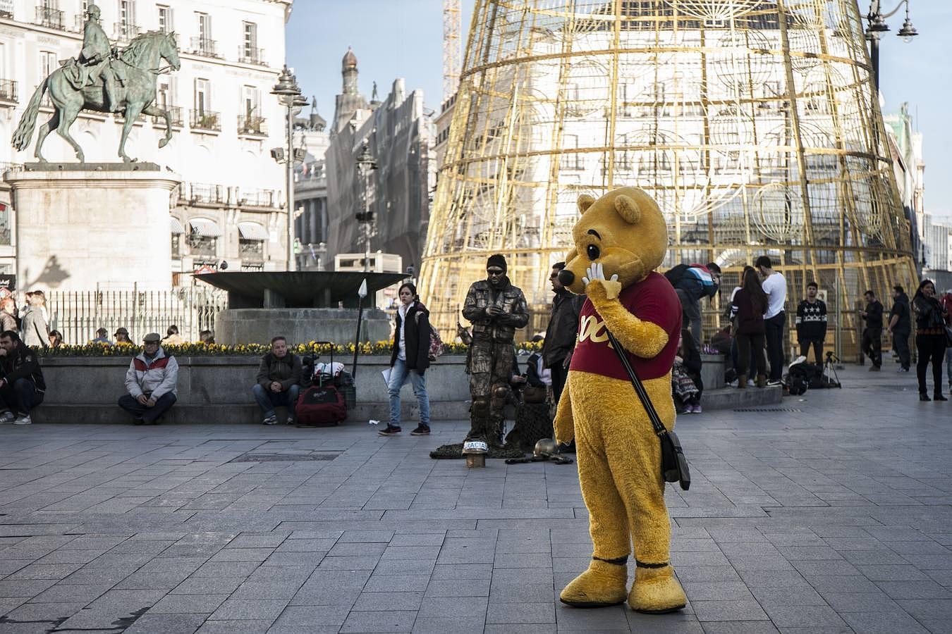 La «fauna» de la Puerta del Sol, en imágenes