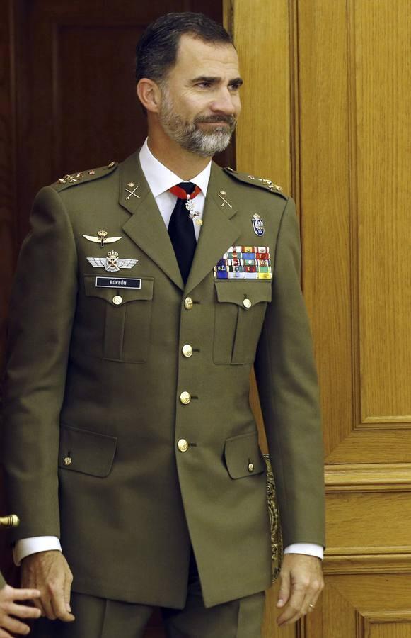 El Rey recibe al nuevo canciller de la orden militar de San Hermenegildo