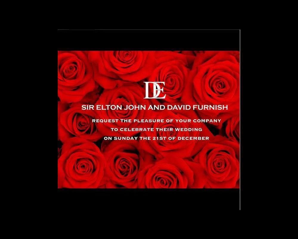 Sir Elton John y David Furnish relatan su boda por Instagram