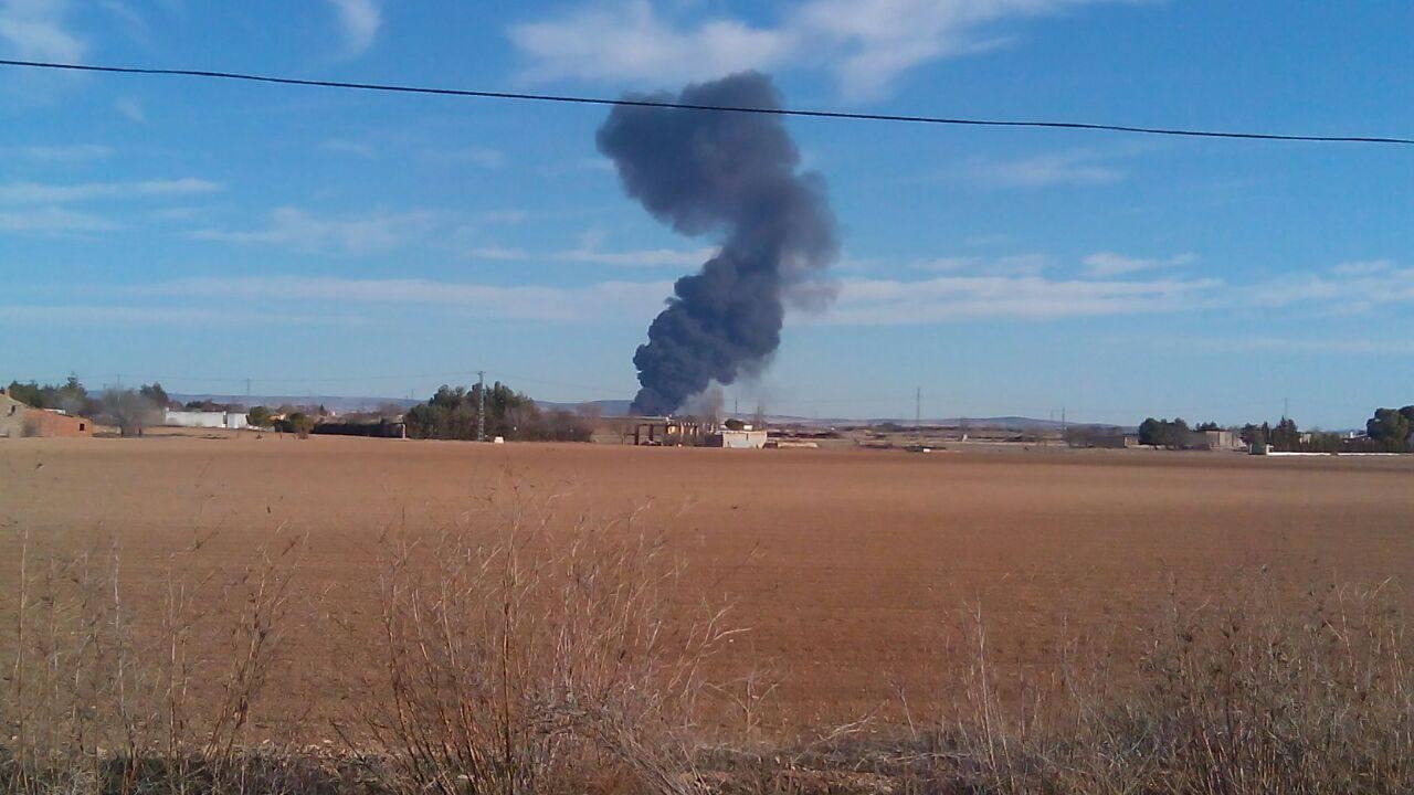 Se estrella un F-16 griego en la base de Albacete