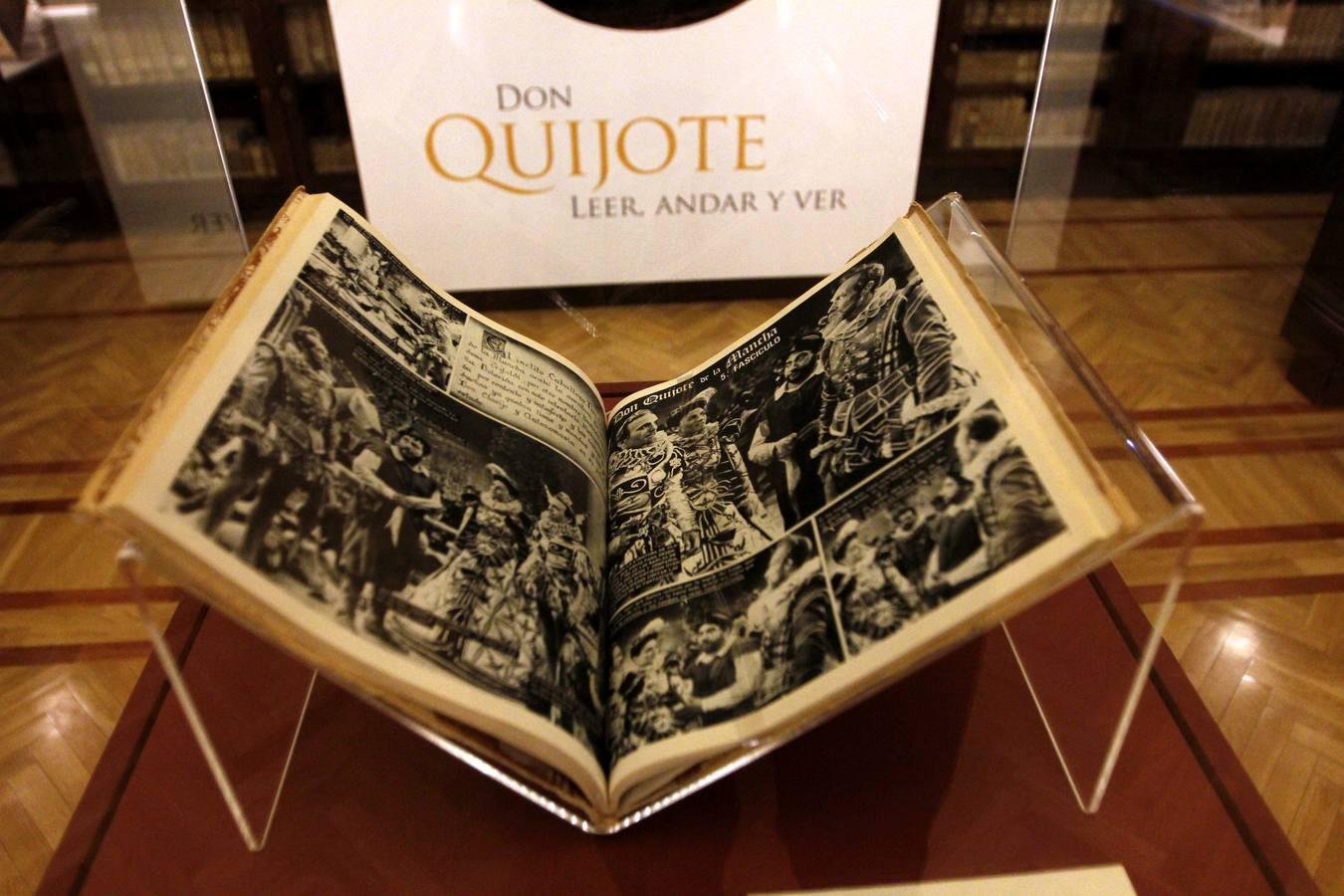 La Biblioteca regional reúne en una exposición todos sus «quijotes»