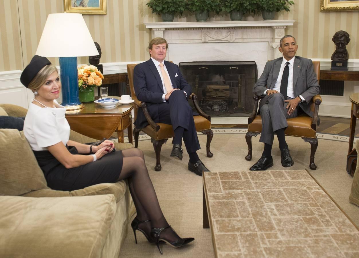 Obama recibe en la Casa Blanca a los Reyes Guillermo Alejandro y Máxima de Holanda