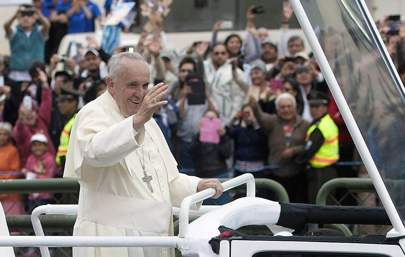 La visita del Papa Francisco a Ecuador en imágenes