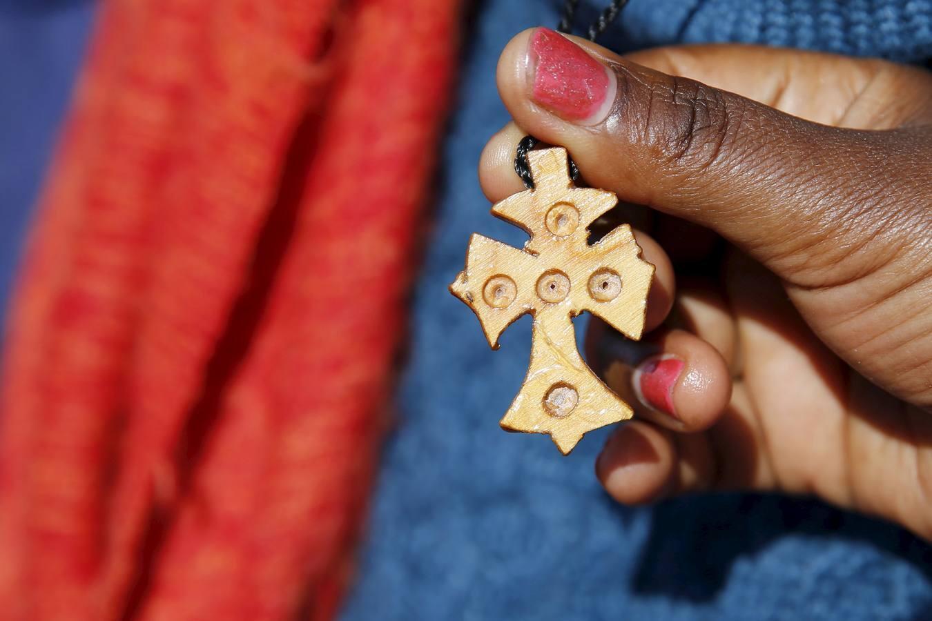 Una iglesia etíope en «La Nueva Jungla» de Calais