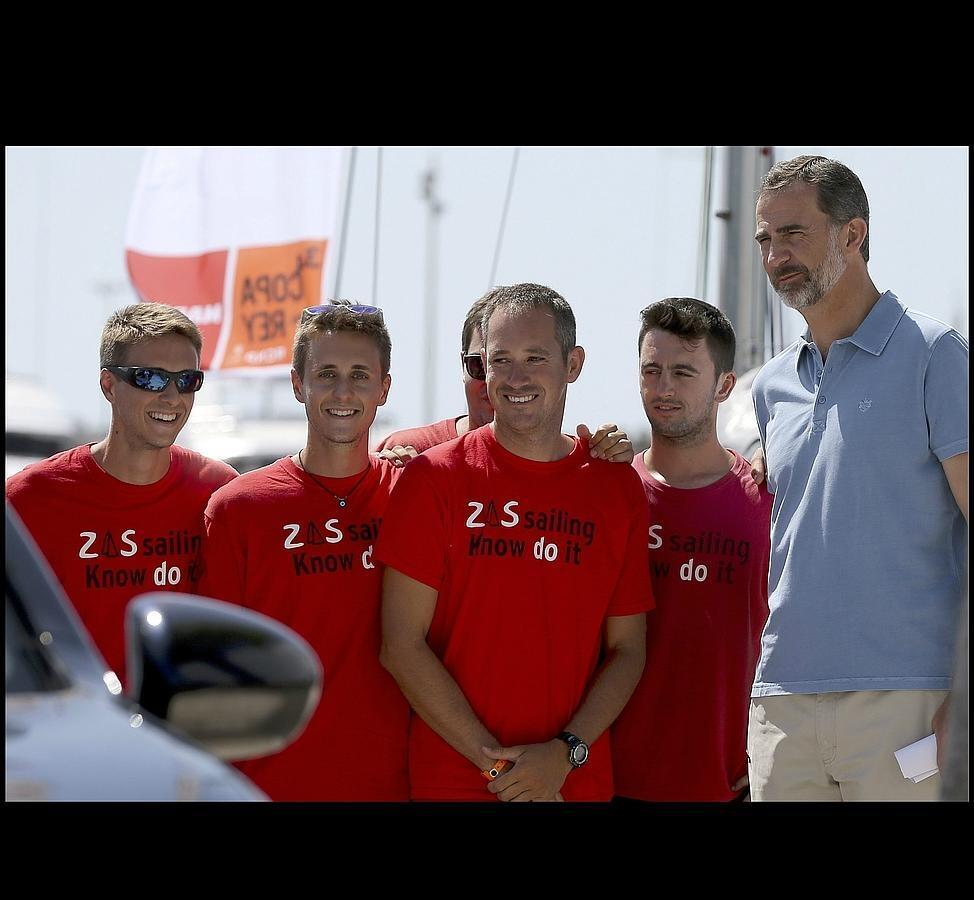 El Rey visita el Club Náutico de Palma de Mallorca