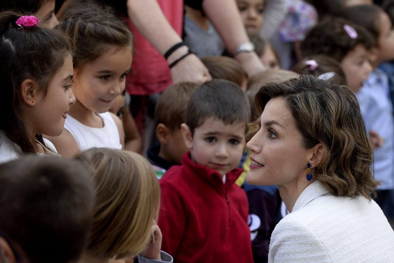 En imágenes: La Reina Letizia, durante la inauguración del curso escolar