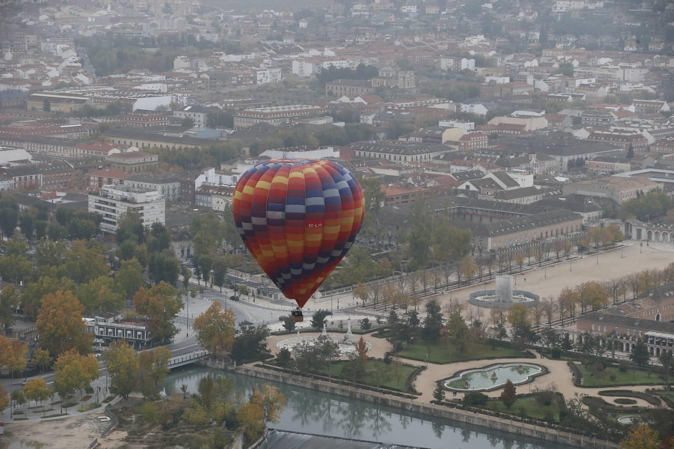 Las mejores imágenes del viaje en globo por Aranjuez