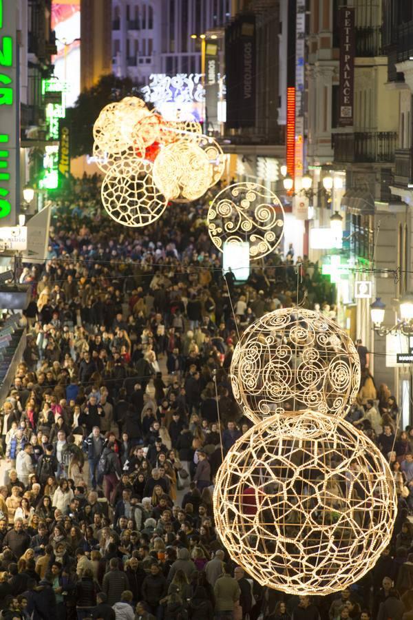 Las luces navideñas de Madrid, en imágenes