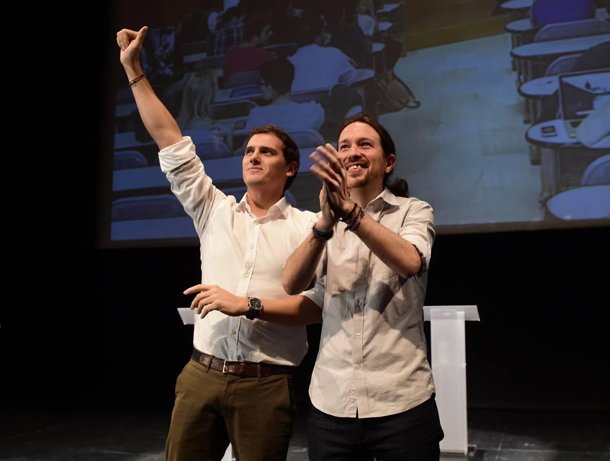 Iglesias versus Rivera: duro asalto por el voto universitario