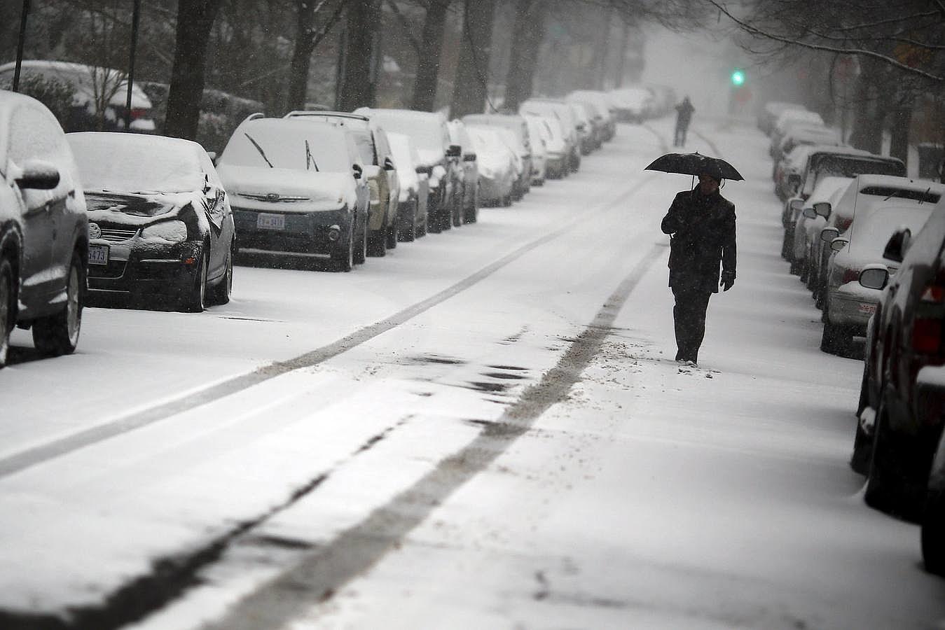 La tormenta ha alterado el ritmo habitual de la vida en Washington