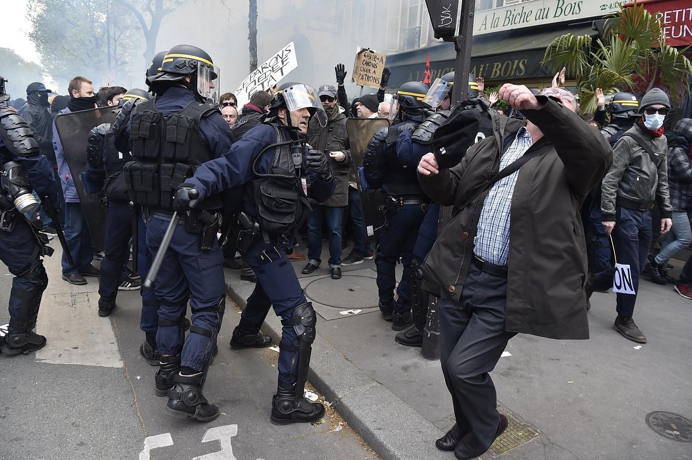 Nueva jornada de protestas en Francia contra la reforma laboral