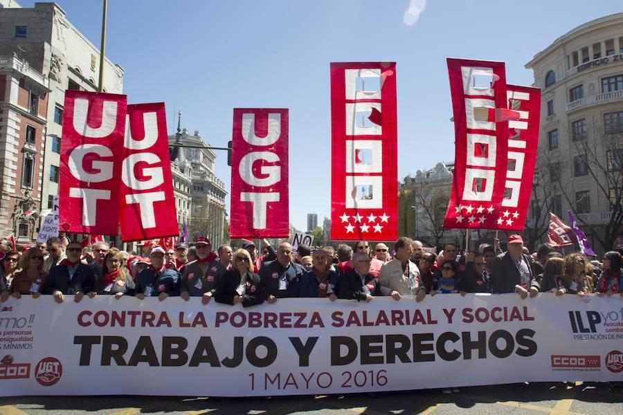 La celebración del Primero de Mayo en España, en imágenes