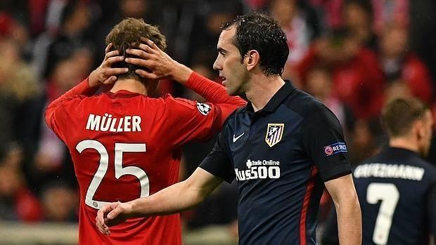 Las mejores imágenes del Bayern-Atlético de Madrid
