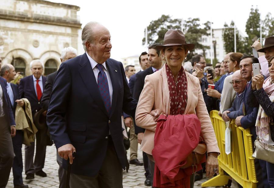 El rey Juan Carlos y la infanta Elena