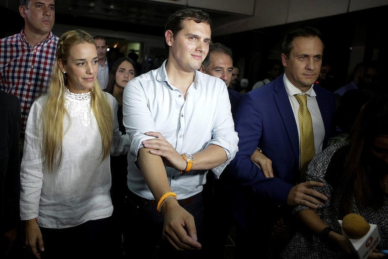 El líder de Ciudadanos Albert Rivera, llegó a Venezuela en una visita de al menos 48 horas en la que espera cumplir una agenda que sirva para
