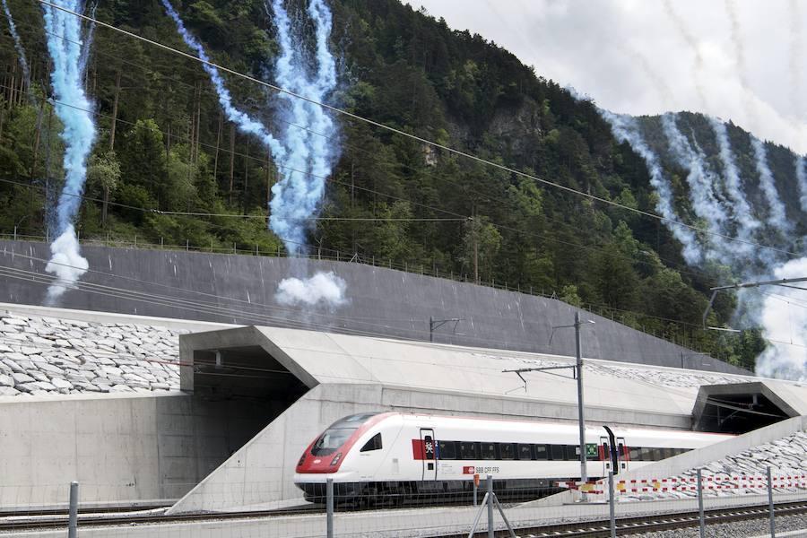 El tren en el viaje de inauguración