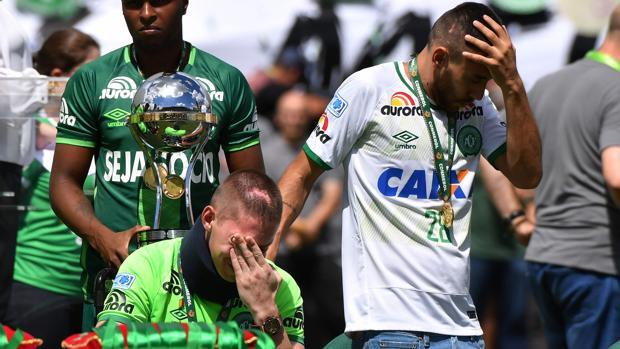 Emoción y lágrimas de los supervivientes en el primer partido del Chapecoense tras la tragedia