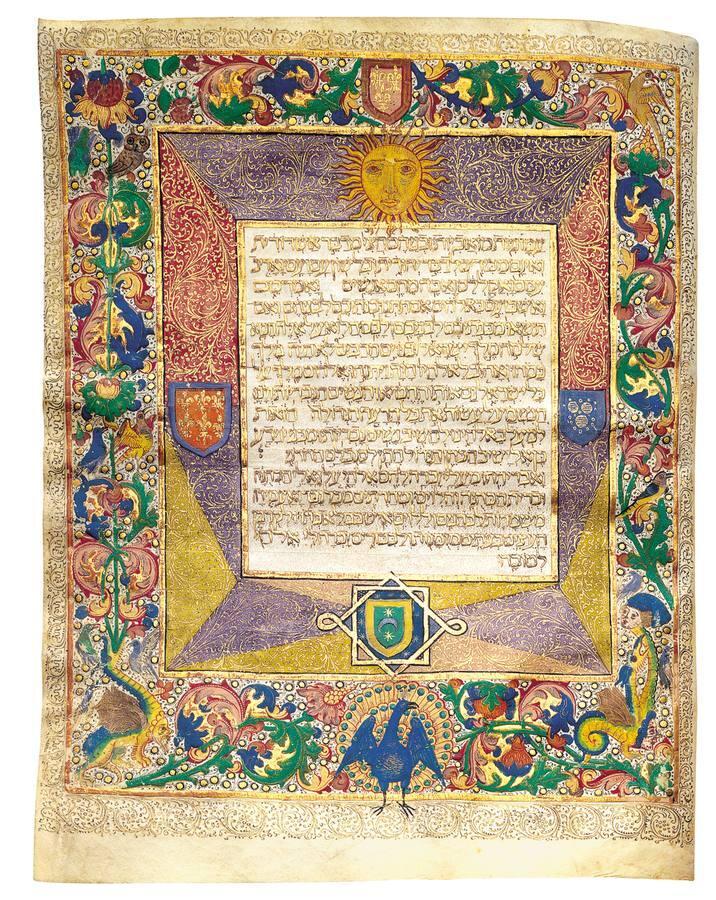 Biblia hebrea. España y Portugal. Manuscrito miniado sobre pergamino, h. 1450-1496
