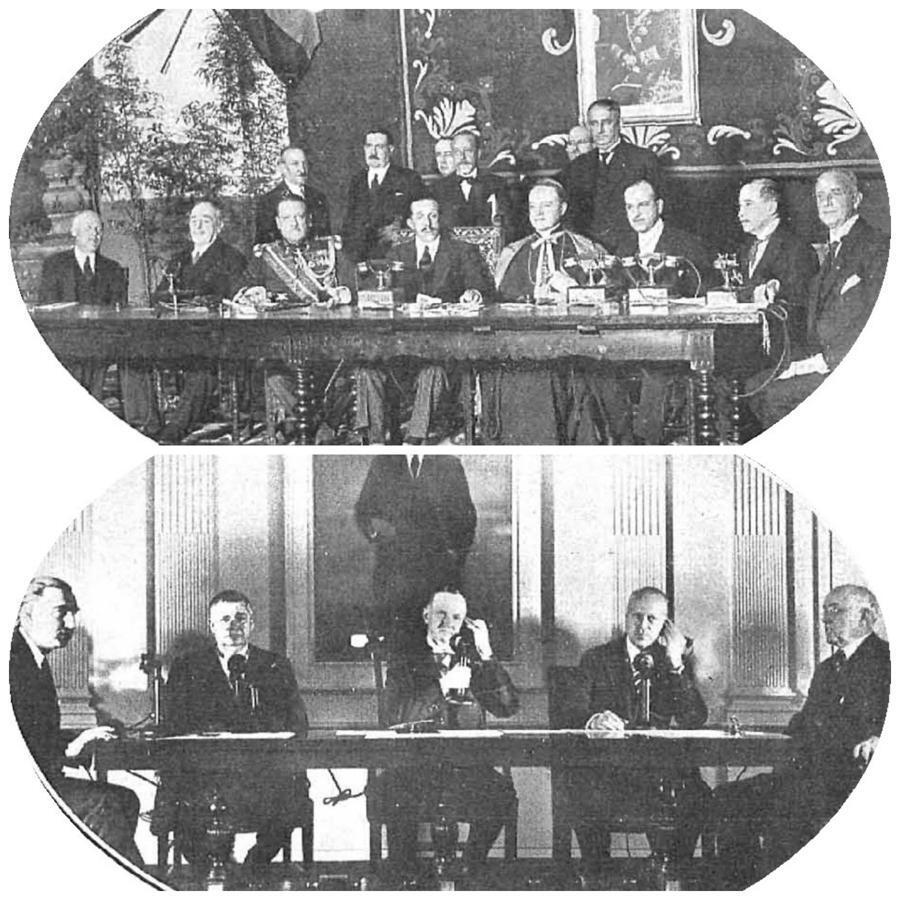Conferencia inaugural trasatlántica entre Madrid y Washington, en 1928, en el periódico Nuevo Mundo