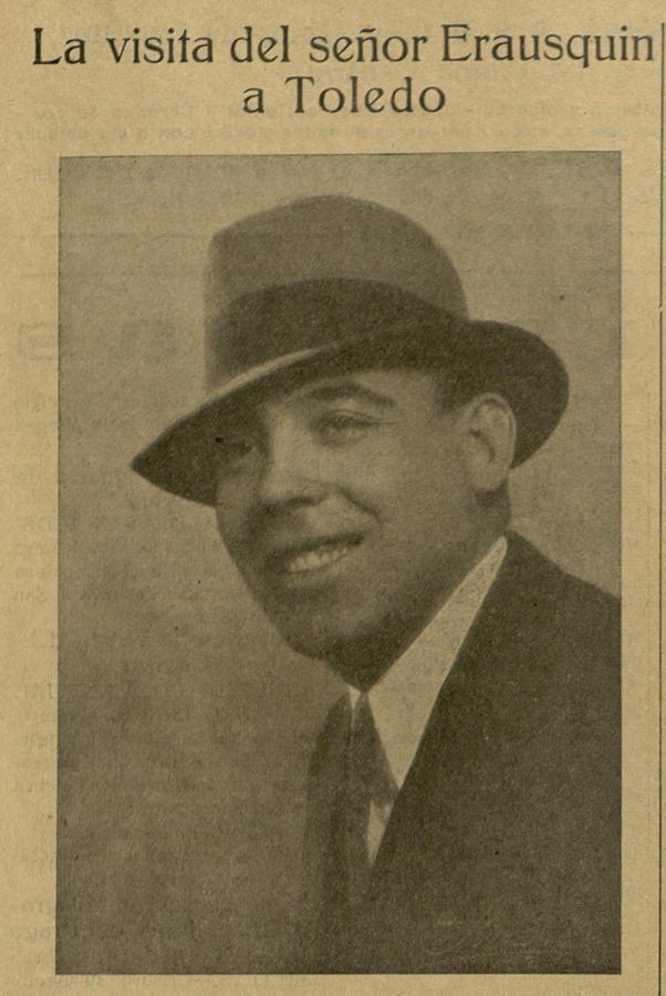 Germán Erausquin. Secretario del Comité de Relaciones de Toledo de Ohio. El Castellano. ARCHIVO MUNICIPAL DE TOLEDO